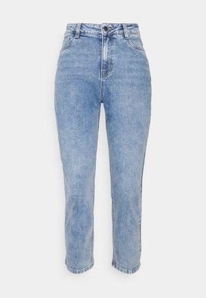 OBJALORA - Straight leg jeans - medium blue denim