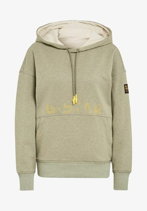 LOOSE FIT FADED BACK GRAPHIC - Hoodie - light green