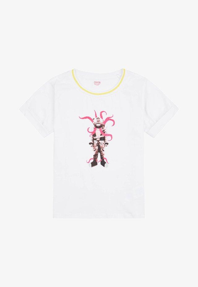 MET STOERE DUIKERS PRINT - T-shirt print - white