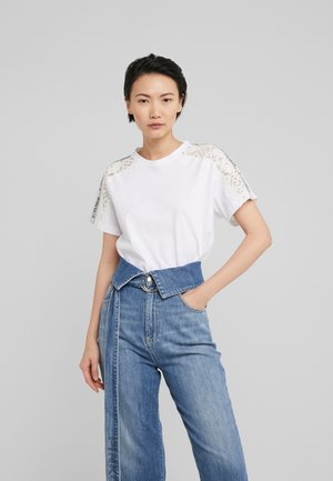 QUERCIA - T-shirt con stampa - white