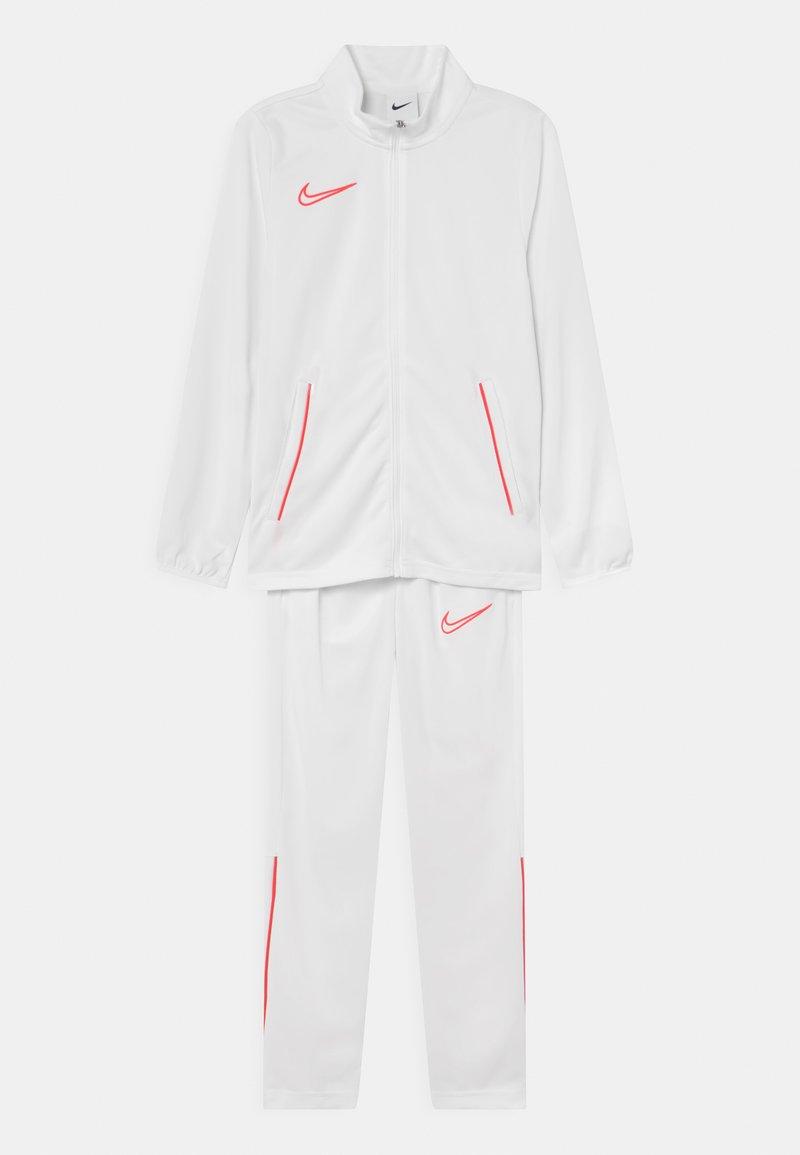 Nike Performance - ACADEMY SET UNISEX - Tracksuit - white/bright crimson