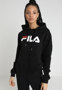 Fila - PURE HOODY - Bluza z kapturem - black - 0