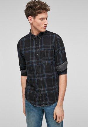 EXTRA SLIM - Overhemd - dark grey checks