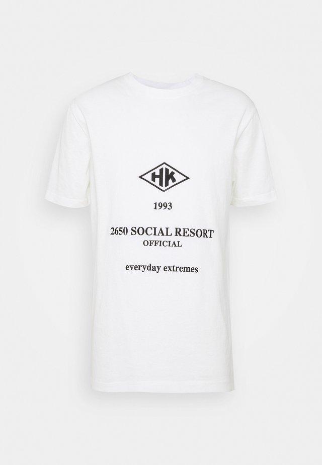 ARTWORK TEE - T-shirt con stampa - white/black