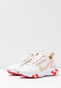 Nike Sportswear - REACT 55 - Trainers - white/desert ore/white/ember glow - 6