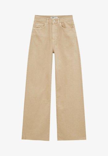 Flared Jeans - mottled beige