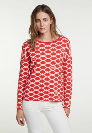 Jumper - red grey