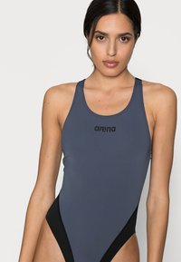 Arena - SOLID SWIM HIGH - Swimsuit - shark/black - 3