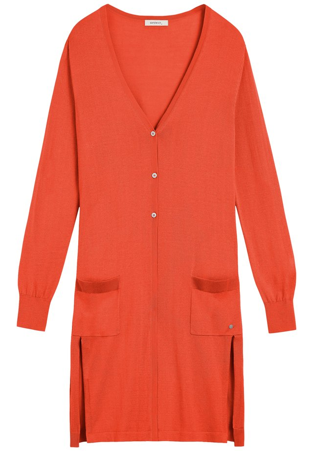 LANGE OFFENE  - Cardigan - orange