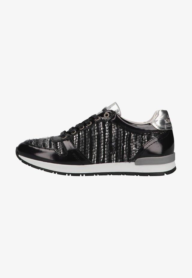 Sneakers laag - schwarz/silber