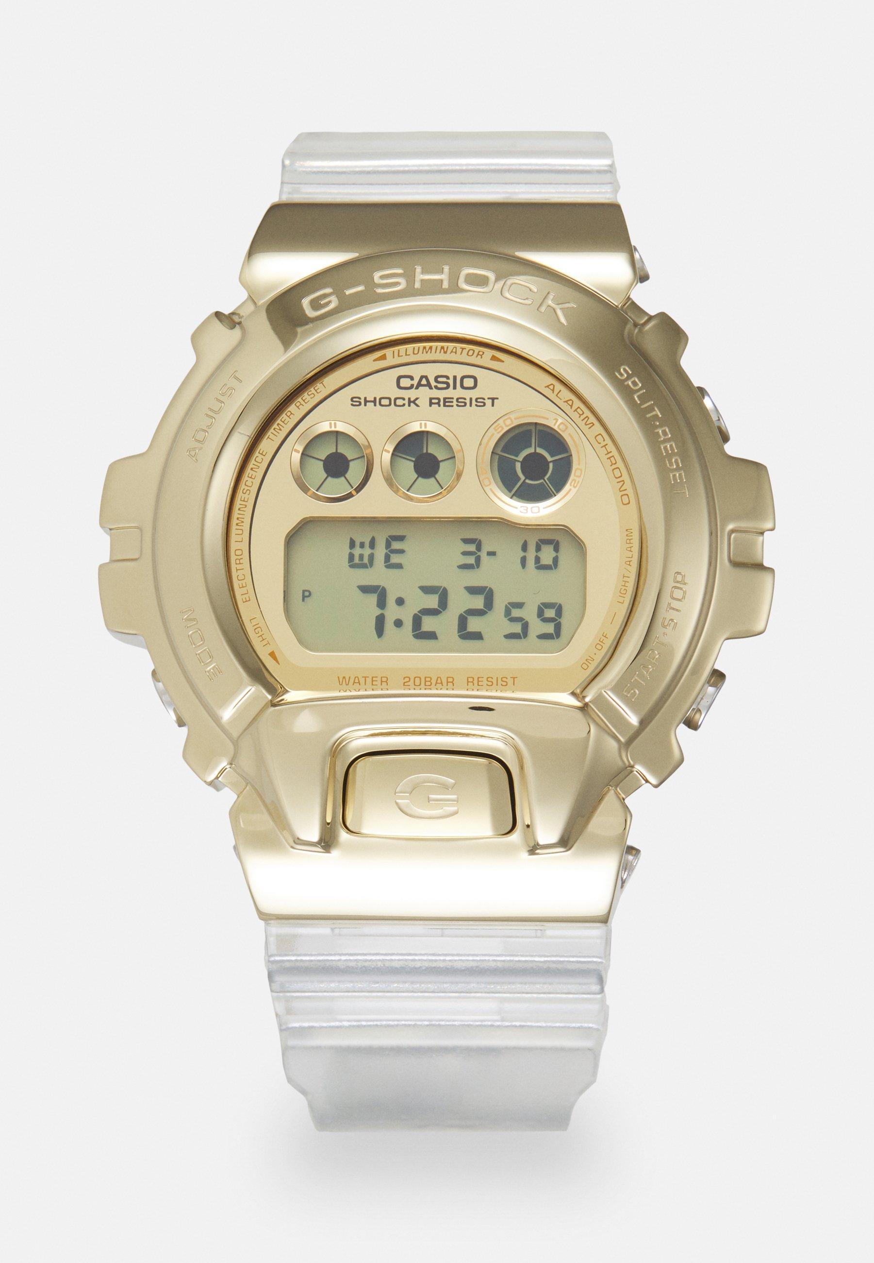 Homme GOLD-INGOT TRANSPARENT GM-6900SG UNISEX - Montre à affichage digital