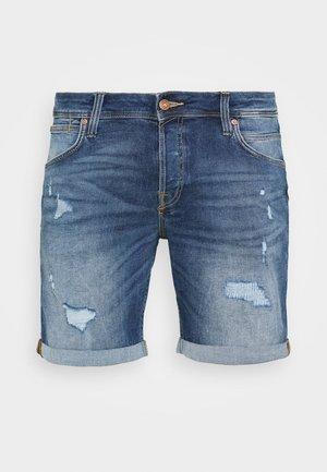JJIRICK JJFOX  - Denim shorts - blue denim