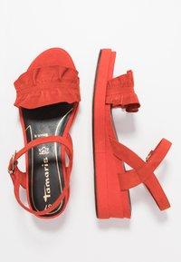 Tamaris - Platform sandals - flame - 3