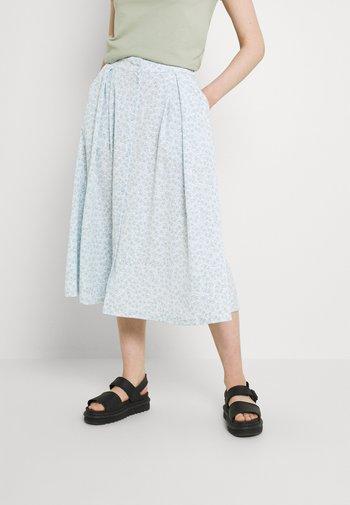 SIGRID BUTTON SKIRT - A-line skirt - blue dusty light