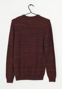 Next - Stickad tröja - dark red - 1
