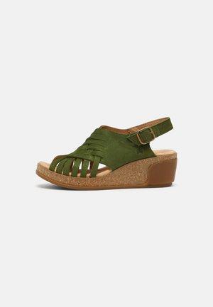 LEAVES - Sandalen met sleehak - selva