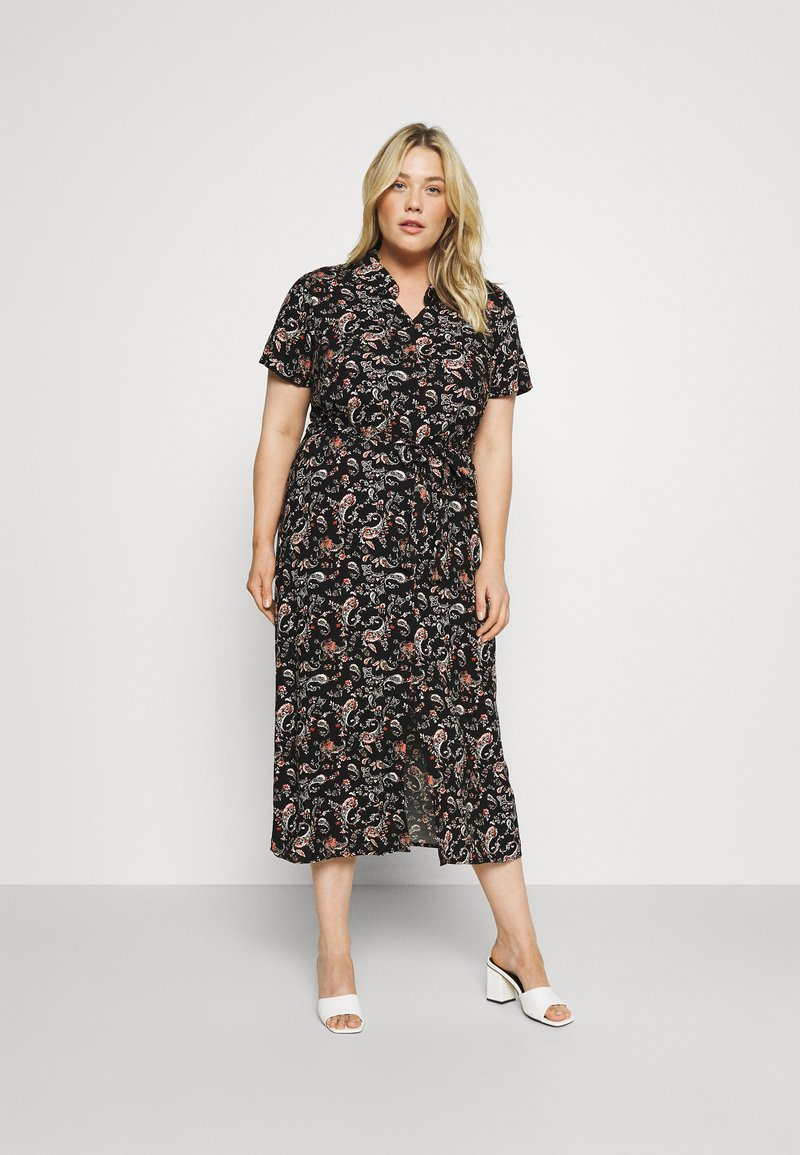 Vero Moda Curve - VMSIMPLY EASY LONG - Maxi dress - black