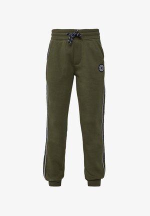 WE FASHION JONGENS JOGGINGBROEK MET TAPEDETAIL - Pantalones deportivos - army green