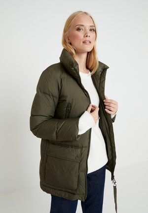 REGULAR LENGTH FILLED STAND-UP COLLAR PATCH - Down coat - workers olive