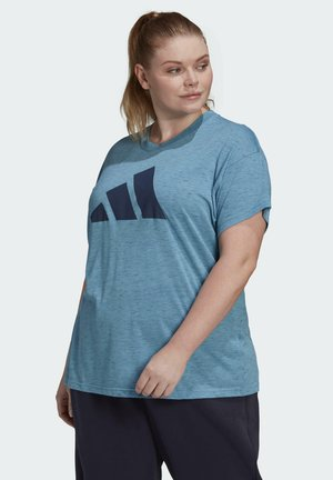 WIN 2.0 PRIMEGREEN PLUS SIZE - Print T-shirt - blue