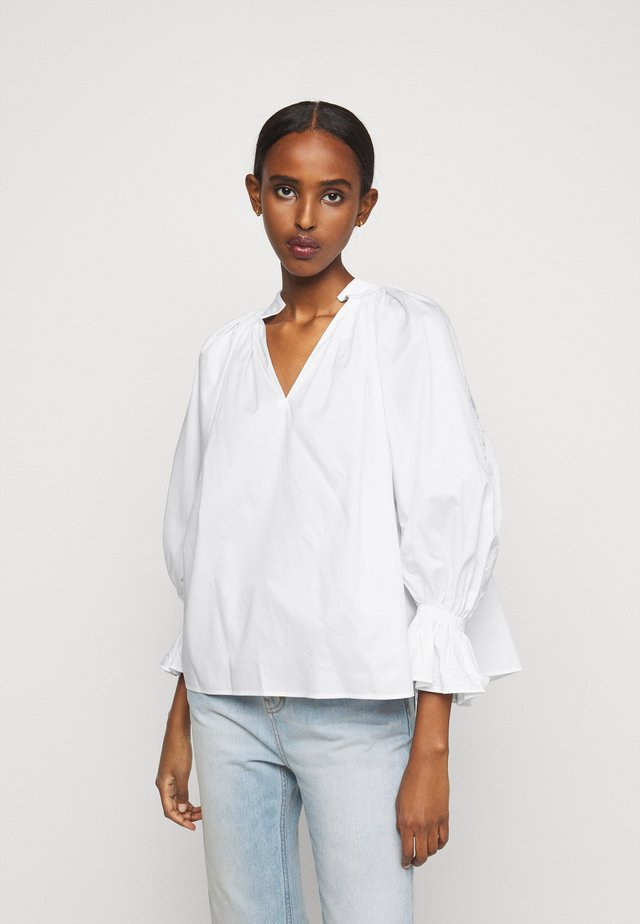 EMBROIDERED PRAIRIE TOP - Camicetta - white