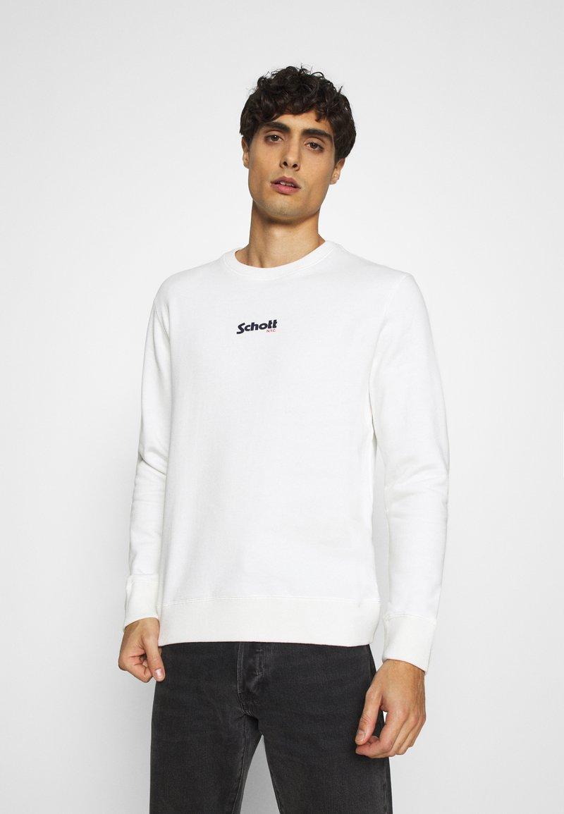 Schott CREW - Sweatshirt - offwhite fhgfLh