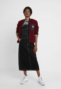 Carhartt WIP - HALDON - Long sleeved top - black/white/cardinal - 1