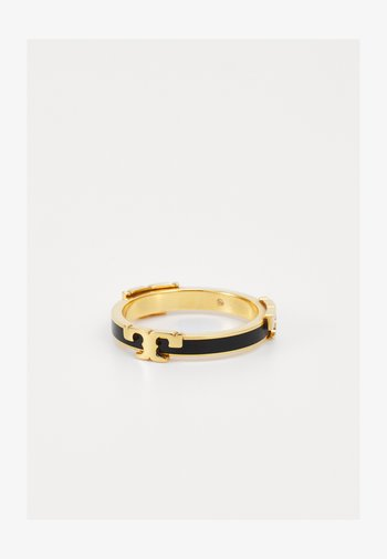 SERIF STACKABLE RING - Anello - gold-coloured/black