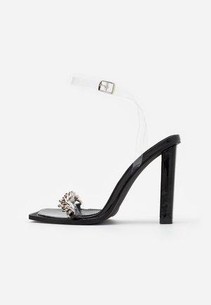 Sandalias de tacón - clear/black