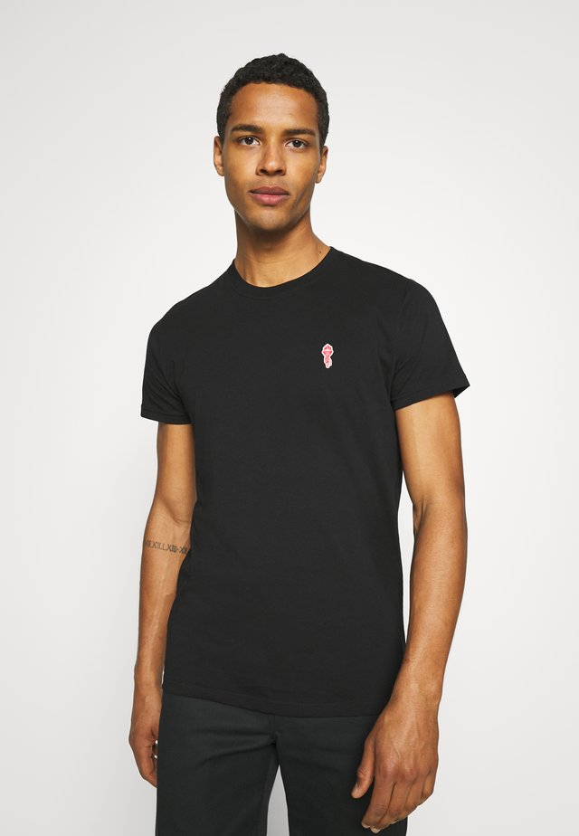 REGULAR - Jednoduché triko - black