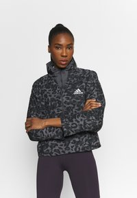 adidas Performance - FAST 1/2 ZIP - Sports jacket - grey four/black - 0