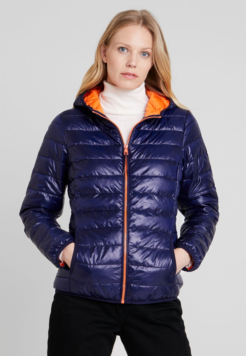 TOM TAILOR DENIM - HOODED PUFFER - Zimní bunda - dusky blue