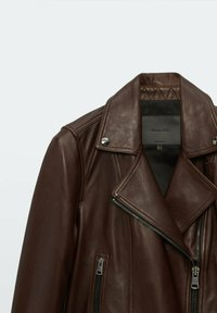 Massimo Dutti - Leather jacket - brown - 2