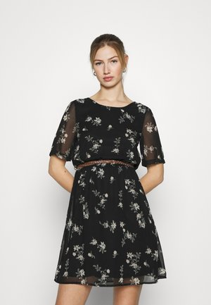 VMFALLIE BELT DRESS - Day dress - black/exotic hallie