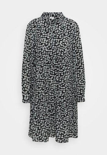 JDYPIPER DRESS - Skjortekjole - black/white