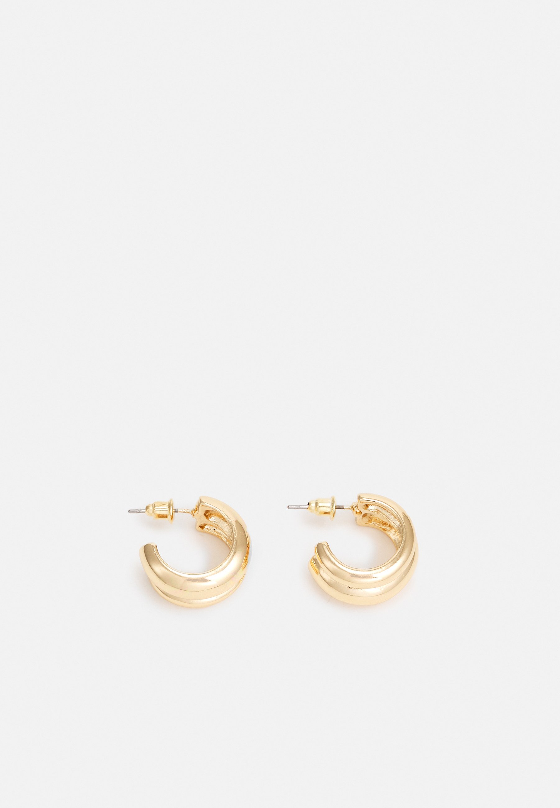 Women MINI DOUBLE EFFECT CHUNKY HOOP - Earrings