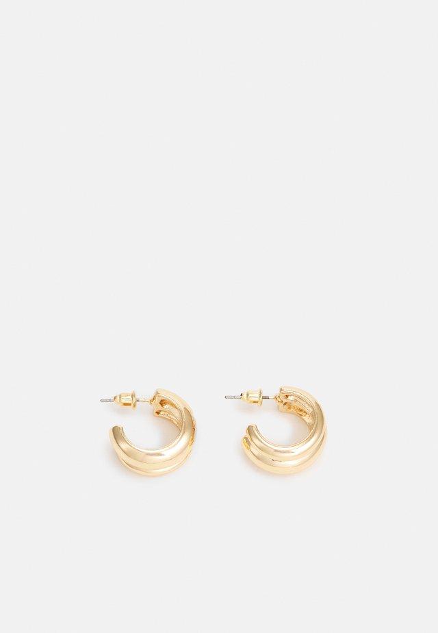 MINI DOUBLE EFFECT CHUNKY HOOP - Boucles d'oreilles - gold-coloured