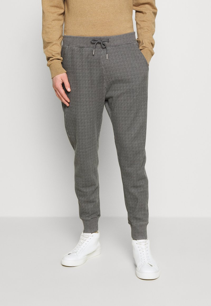 Abercrombie & Fitch - HOUNDSTOOTH STRETCH TERRY - Trousers - grey