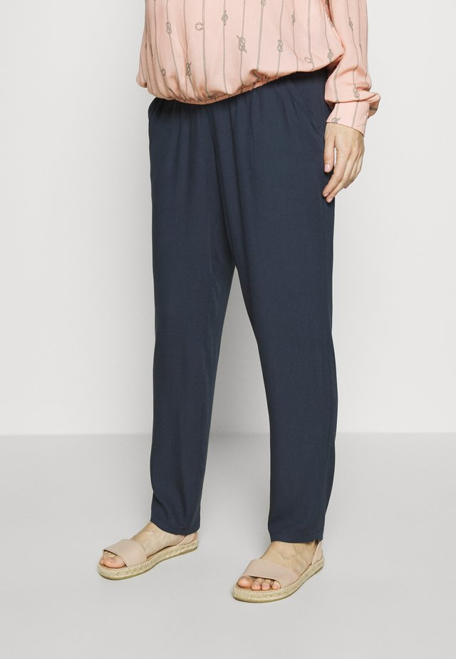 TROUSERS VICKI - Kangashousut - dark blue