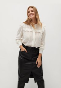 Violeta by Mango - Leather skirt - black - 0