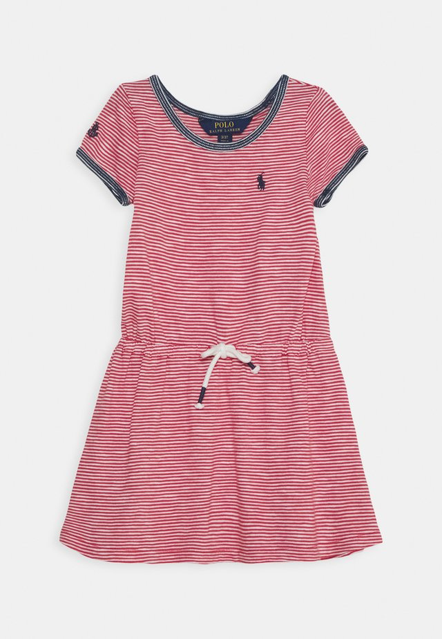 DRESS - Jerseykleid - nantucket red/deckwash white