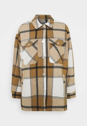 ONLELLENE VALDA CHACKET - Zimní kabát - bone brown/black