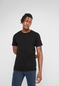 rag & bone - CLASSIC TEE - T-shirt basique - black - 0
