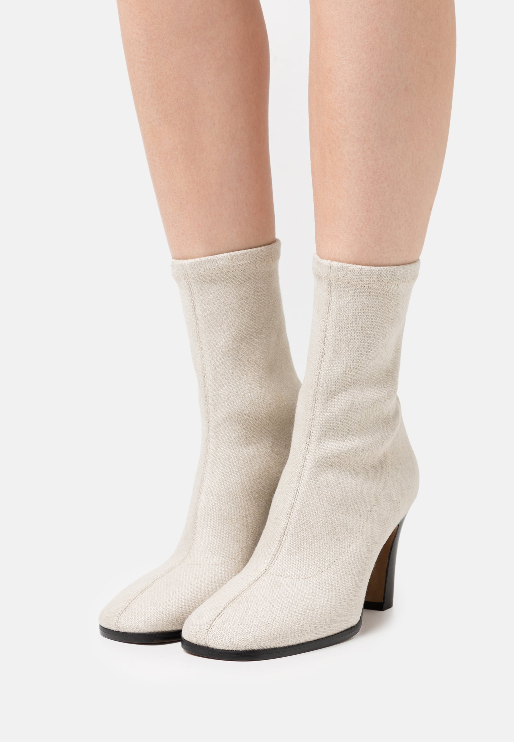 Women Booties - Classic ankle boots - natural