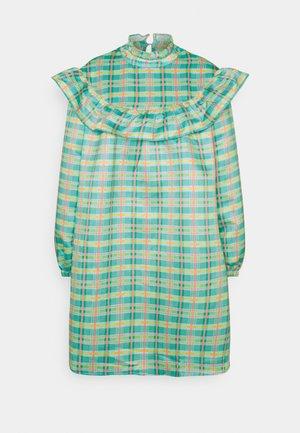 PRAIRIE RUFFLE BIB DRESS - Day dress - green/multi-coloured