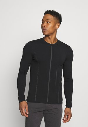 MOCK NECK LONG SLEEVE PANEL - Bluzka z długim rękawem - black