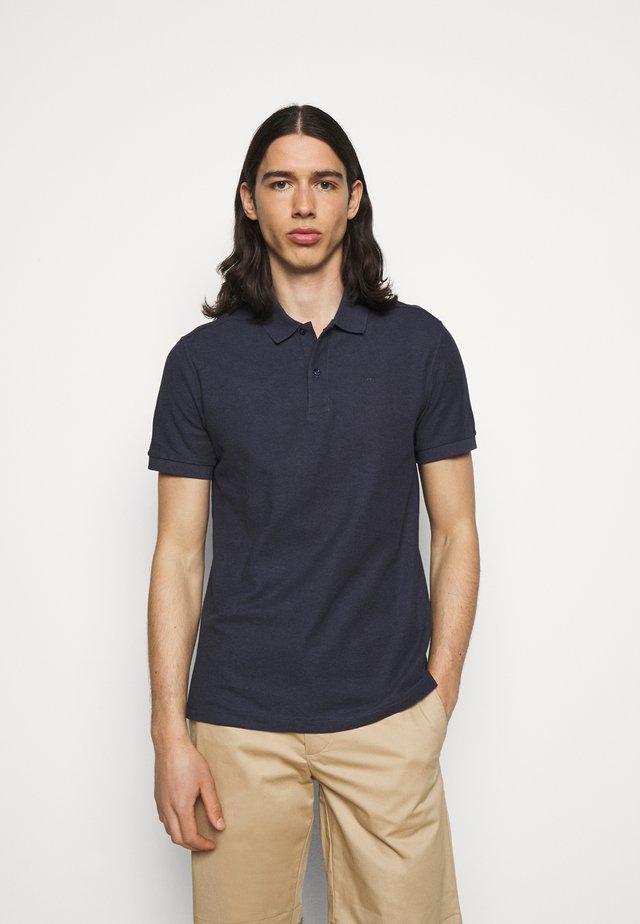 TROY SEASONAL - Poloshirt - midnight blue melange