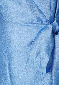 Gina Tricot - MILLY WRAP DRESS - Cocktail dress / Party dress - light blue - 2