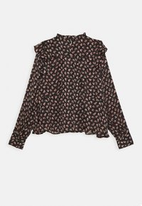 Scotch & Soda - PRINTED FLORAL IN DRAPEY QUALITY - Blouse - black/pink/bordeaux - 1
