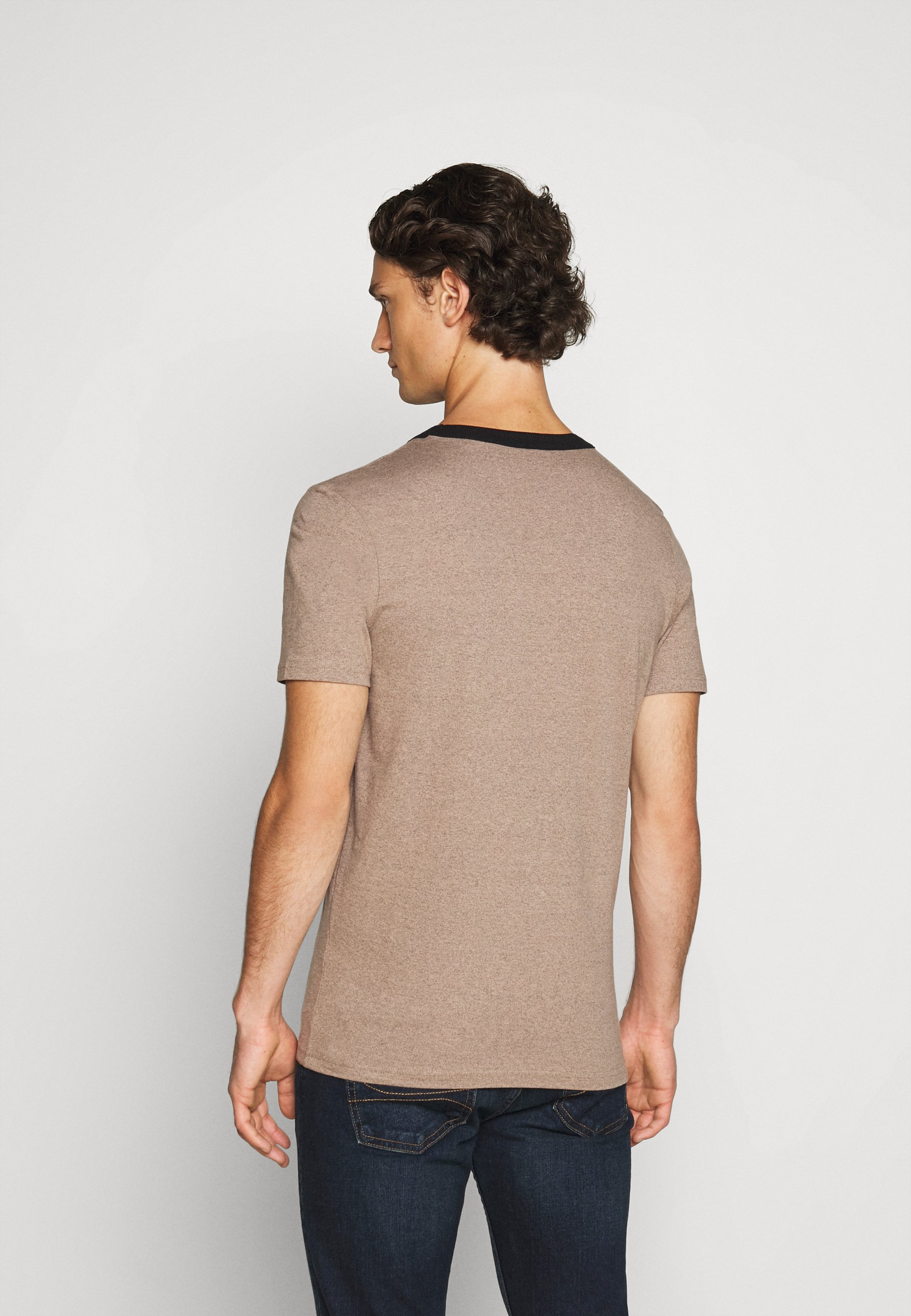 Jack & Jones JCOBLUE TEE CREW NECK - Basic T-shirt - crockery melange bxPhy